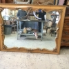 Cherry French Provincial Mirror Before