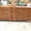 Cherry French Provincial Dresser Before